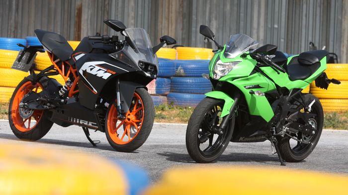 Ktm Rc Vs Kawasaki Ninja Sl