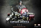 Ο υπέρ-ήρωας Captain America με την ειδικά τροποποιημένη Harley Davidson WLA Liberator του 1942