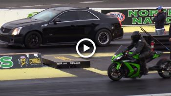 VIDEO: Κόντρα ZX-10R με Cadillac CTS-V