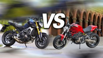 Ducati Monster 821 VS Yamaha MT-09