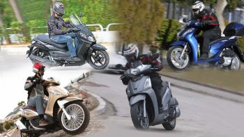 4 scooters στα 300cc